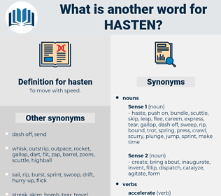 hasten, synonym hasten, another word for hasten, words like hasten, thesaurus hasten