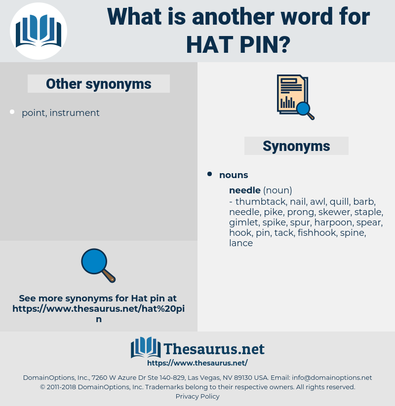 hat pin, synonym hat pin, another word for hat pin, words like hat pin, thesaurus hat pin