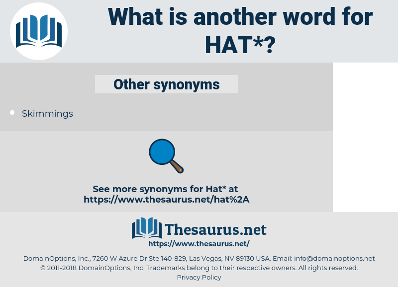 hat, synonym hat, another word for hat, words like hat, thesaurus hat