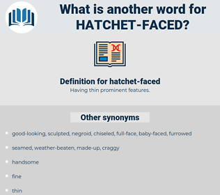 hatchet-faced, synonym hatchet-faced, another word for hatchet-faced, words like hatchet-faced, thesaurus hatchet-faced