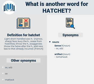 hatchet, synonym hatchet, another word for hatchet, words like hatchet, thesaurus hatchet