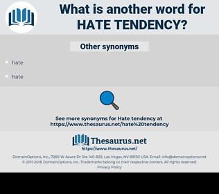 hate tendency, synonym hate tendency, another word for hate tendency, words like hate tendency, thesaurus hate tendency