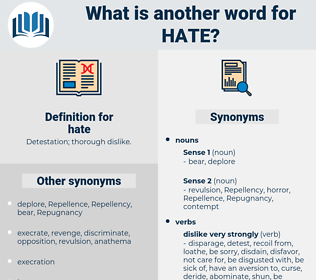 hate, synonym hate, another word for hate, words like hate, thesaurus hate