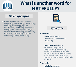 hatefully, synonym hatefully, another word for hatefully, words like hatefully, thesaurus hatefully
