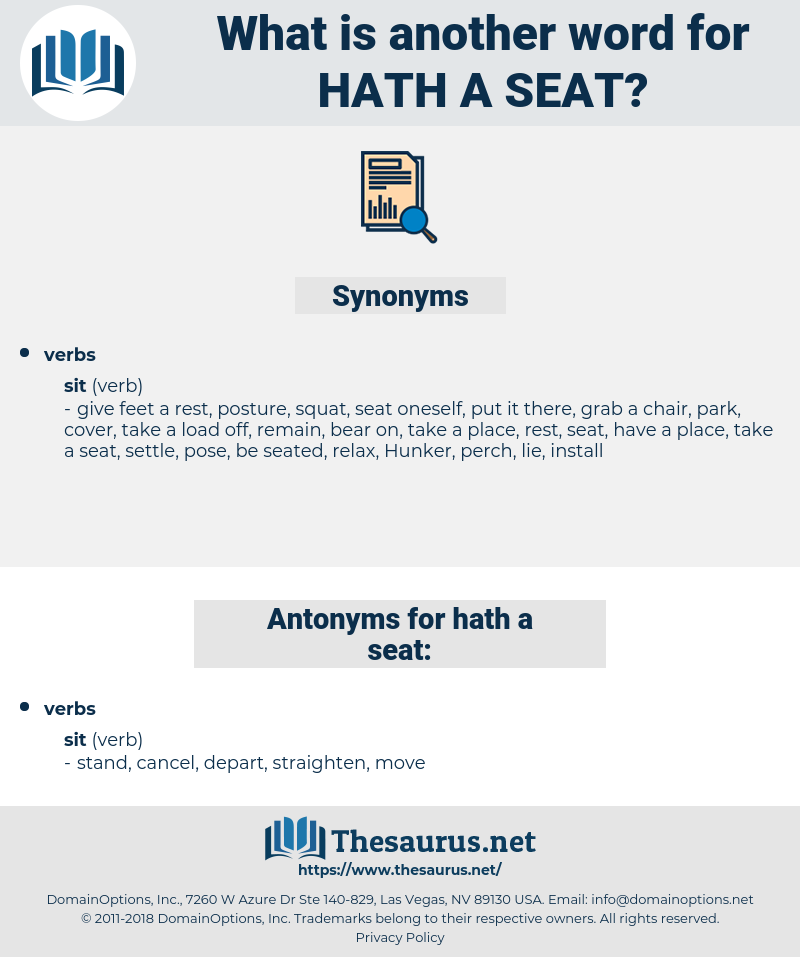 hath a seat, synonym hath a seat, another word for hath a seat, words like hath a seat, thesaurus hath a seat