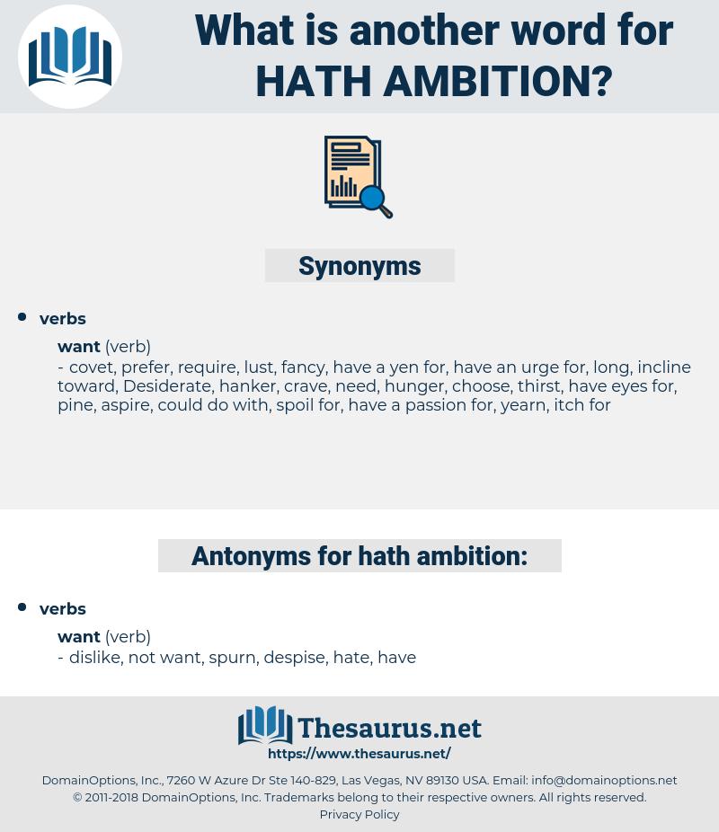 hath ambition, synonym hath ambition, another word for hath ambition, words like hath ambition, thesaurus hath ambition
