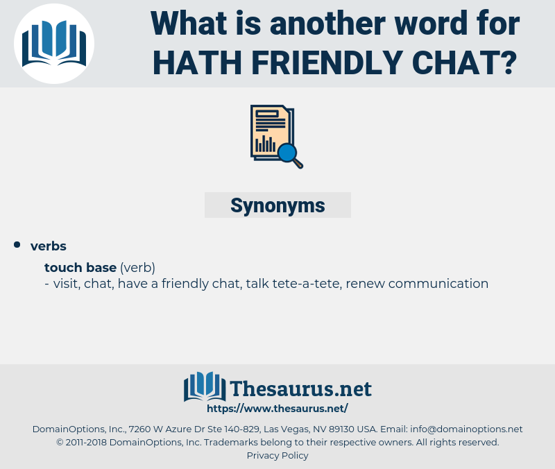 hath friendly chat, synonym hath friendly chat, another word for hath friendly chat, words like hath friendly chat, thesaurus hath friendly chat
