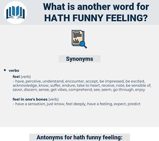 hath funny feeling, synonym hath funny feeling, another word for hath funny feeling, words like hath funny feeling, thesaurus hath funny feeling