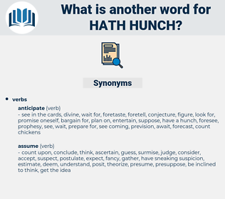 hath hunch, synonym hath hunch, another word for hath hunch, words like hath hunch, thesaurus hath hunch