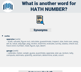 hath number, synonym hath number, another word for hath number, words like hath number, thesaurus hath number