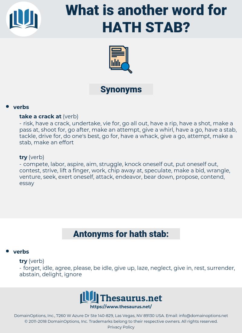 hath stab, synonym hath stab, another word for hath stab, words like hath stab, thesaurus hath stab