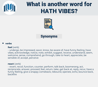 hath vibes, synonym hath vibes, another word for hath vibes, words like hath vibes, thesaurus hath vibes