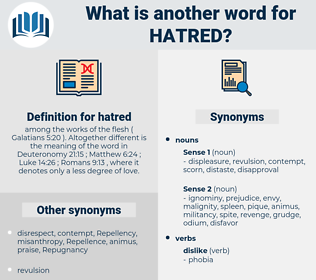 hatred, synonym hatred, another word for hatred, words like hatred, thesaurus hatred