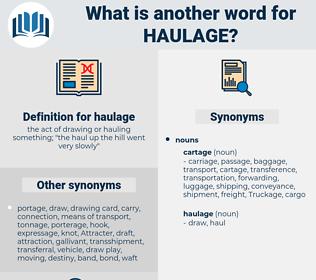 haulage, synonym haulage, another word for haulage, words like haulage, thesaurus haulage