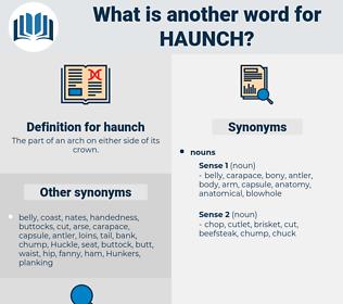 haunch, synonym haunch, another word for haunch, words like haunch, thesaurus haunch