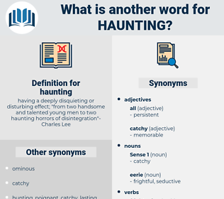 haunting, synonym haunting, another word for haunting, words like haunting, thesaurus haunting