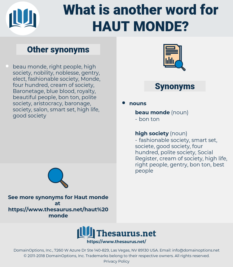 haut monde, synonym haut monde, another word for haut monde, words like haut monde, thesaurus haut monde