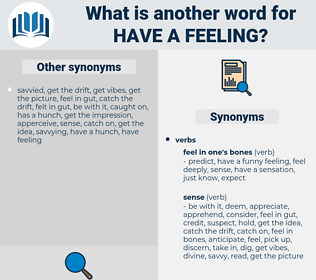 have a feeling, synonym have a feeling, another word for have a feeling, words like have a feeling, thesaurus have a feeling