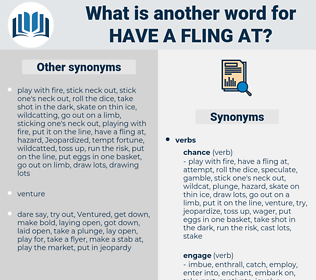 have a fling at, synonym have a fling at, another word for have a fling at, words like have a fling at, thesaurus have a fling at