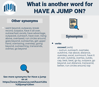 have a jump on, synonym have a jump on, another word for have a jump on, words like have a jump on, thesaurus have a jump on