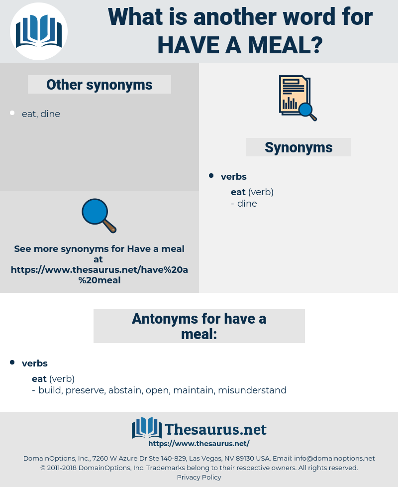 have a meal, synonym have a meal, another word for have a meal, words like have a meal, thesaurus have a meal