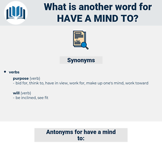 have a mind to, synonym have a mind to, another word for have a mind to, words like have a mind to, thesaurus have a mind to
