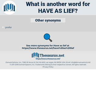 have as lief, synonym have as lief, another word for have as lief, words like have as lief, thesaurus have as lief