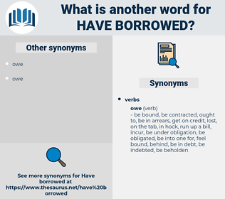 have borrowed, synonym have borrowed, another word for have borrowed, words like have borrowed, thesaurus have borrowed