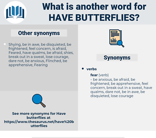 have butterflies, synonym have butterflies, another word for have butterflies, words like have butterflies, thesaurus have butterflies