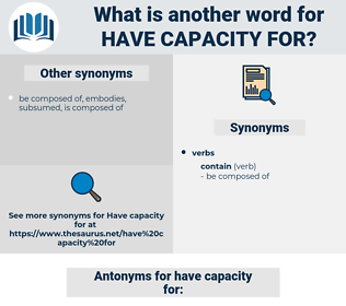 have capacity for, synonym have capacity for, another word for have capacity for, words like have capacity for, thesaurus have capacity for