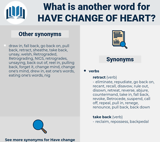 have change of heart, synonym have change of heart, another word for have change of heart, words like have change of heart, thesaurus have change of heart