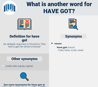 have got, synonym have got, another word for have got, words like have got, thesaurus have got