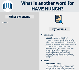 have hunch, synonym have hunch, another word for have hunch, words like have hunch, thesaurus have hunch