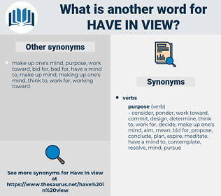 have in view, synonym have in view, another word for have in view, words like have in view, thesaurus have in view