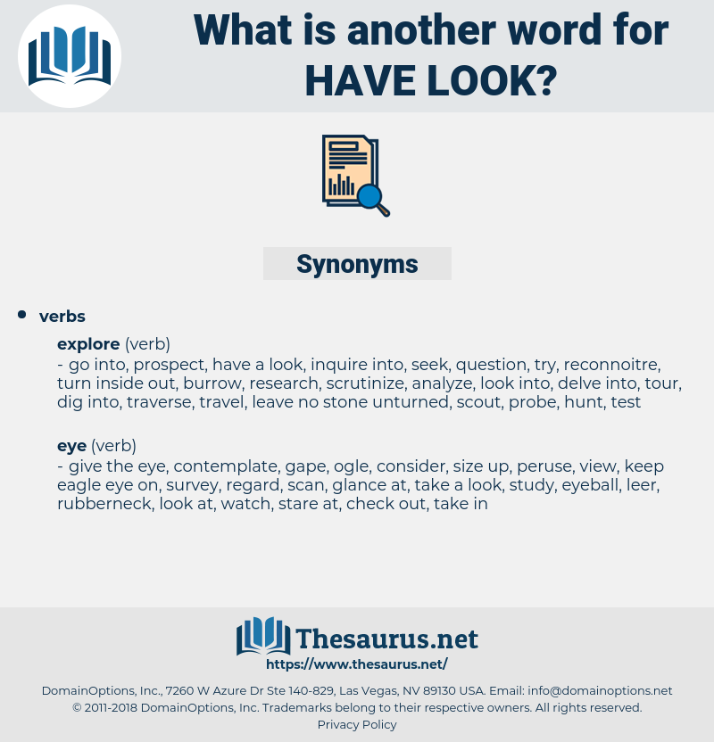 have look, synonym have look, another word for have look, words like have look, thesaurus have look