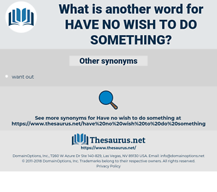 have no wish to do something, synonym have no wish to do something, another word for have no wish to do something, words like have no wish to do something, thesaurus have no wish to do something
