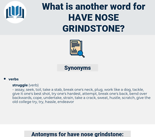 have nose grindstone, synonym have nose grindstone, another word for have nose grindstone, words like have nose grindstone, thesaurus have nose grindstone