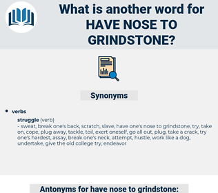 have nose to grindstone, synonym have nose to grindstone, another word for have nose to grindstone, words like have nose to grindstone, thesaurus have nose to grindstone