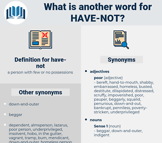 have-not, synonym have-not, another word for have-not, words like have-not, thesaurus have-not