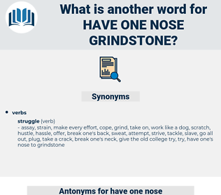 have one nose grindstone, synonym have one nose grindstone, another word for have one nose grindstone, words like have one nose grindstone, thesaurus have one nose grindstone