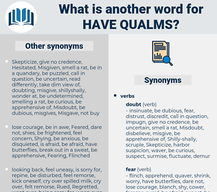 have qualms, synonym have qualms, another word for have qualms, words like have qualms, thesaurus have qualms