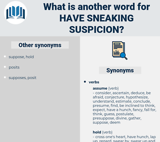 have sneaking suspicion, synonym have sneaking suspicion, another word for have sneaking suspicion, words like have sneaking suspicion, thesaurus have sneaking suspicion