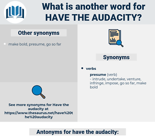 have the audacity, synonym have the audacity, another word for have the audacity, words like have the audacity, thesaurus have the audacity