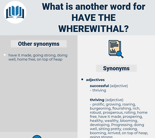 have the wherewithal, synonym have the wherewithal, another word for have the wherewithal, words like have the wherewithal, thesaurus have the wherewithal