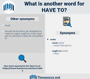 have to, synonym have to, another word for have to, words like have to, thesaurus have to