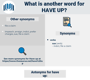 have up, synonym have up, another word for have up, words like have up, thesaurus have up