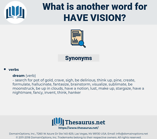 have vision, synonym have vision, another word for have vision, words like have vision, thesaurus have vision