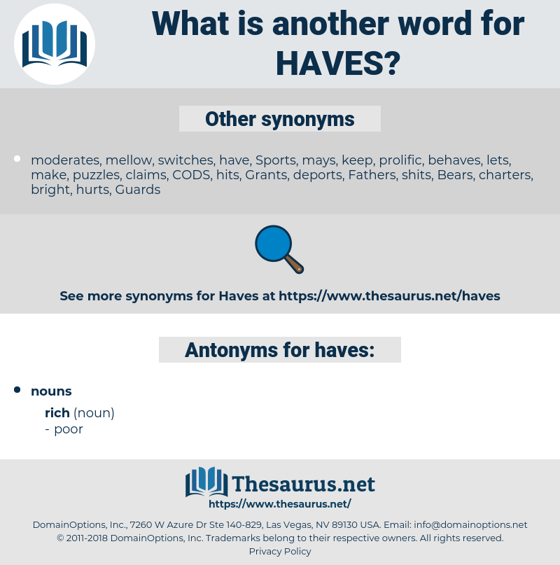 haves, synonym haves, another word for haves, words like haves, thesaurus haves