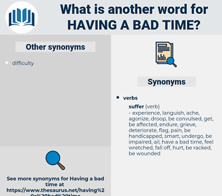 having a bad time, synonym having a bad time, another word for having a bad time, words like having a bad time, thesaurus having a bad time
