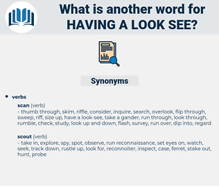 having a look see, synonym having a look see, another word for having a look see, words like having a look see, thesaurus having a look see